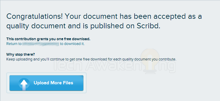 download from Scribd for free by uploading documents