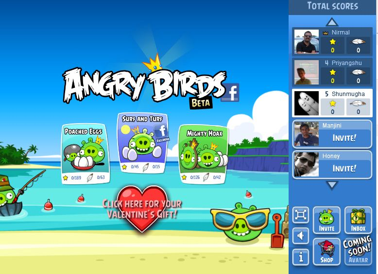 play angry birds game on facebook
