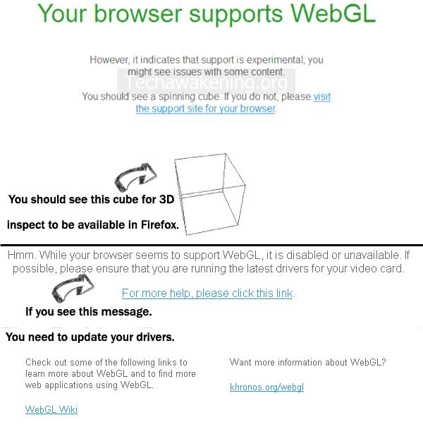 Test if Browser Supports WebGl