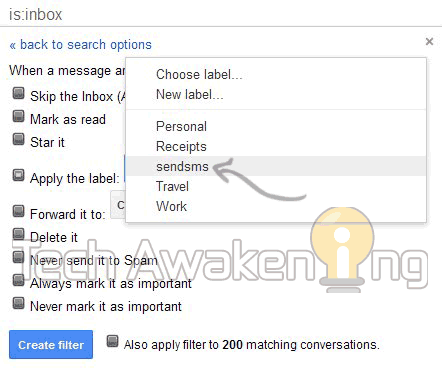 free sms alerts on receiving email on Gmail