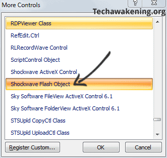 insert Shockwave file in PowerPoint
