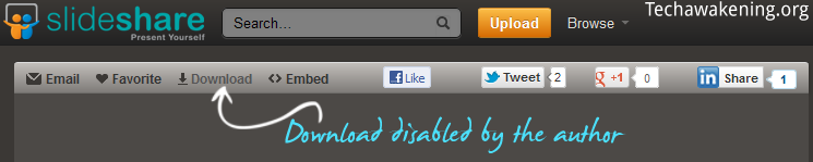 how to download author disabled presentations from slideshare