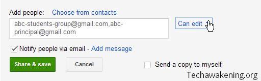 Edit access control in Google Spreadsheet