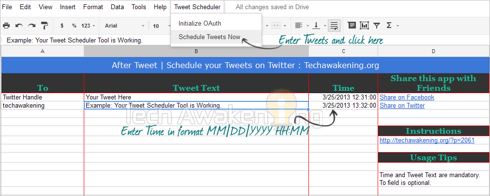 How to Create Your Own Twitter Scheduler with Google Script