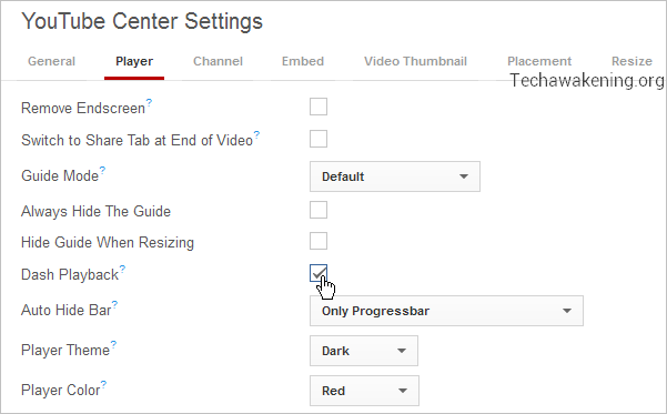 Features of YouTube Center Add-on