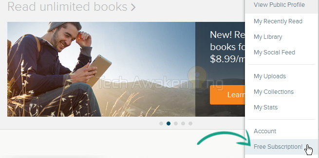 Get free Scribd Trial account without using Credit Card