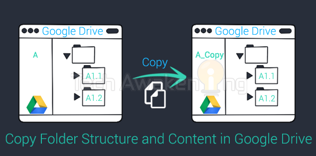 How to Copy Folder Structure and Contents in Google Drive