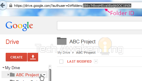 how to find folder id in Google Drive