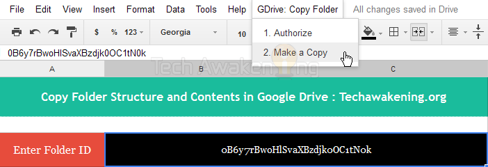 How to duplicate folder structure and contents in Google Drive
