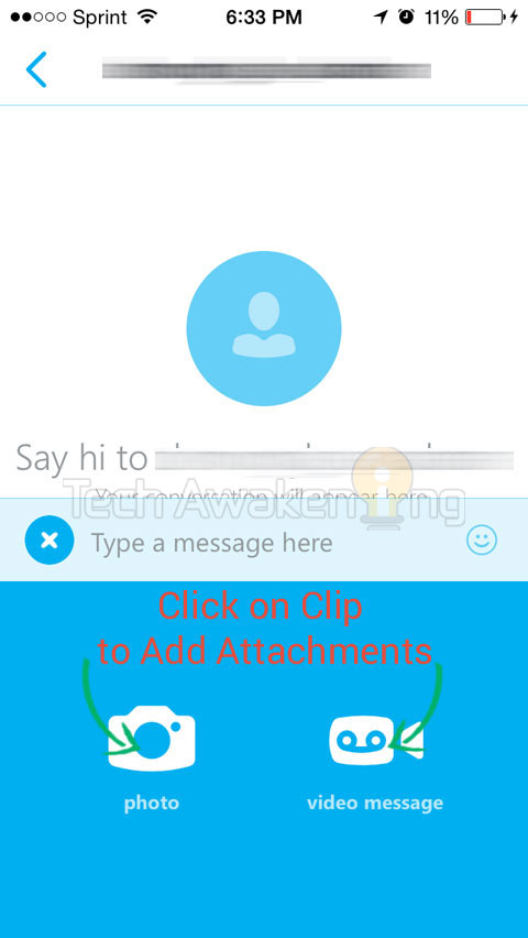 Skype 5 for iPhone How to Send Photo, Video Attachments
