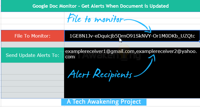 Get Email Alerts When Any Google Document is Edited